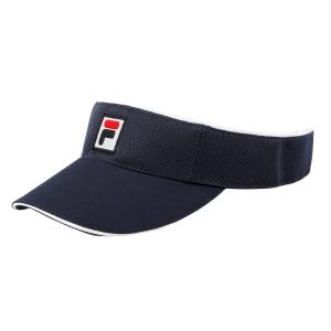 Tennis Hats and Visors Fila Vuckonic Visor  Peacoat/Blue XS12TEU001100
