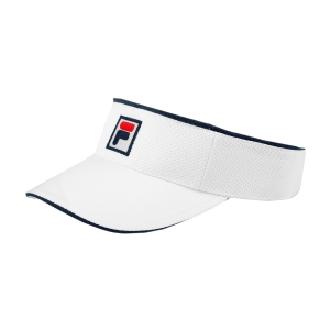 Tennis Hats and Visors Fila Vuckonic Visor  White XS12TEU001001