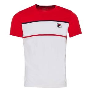 Polo e Maglie Tennis Fila Steve Maglietta Bambino  White/Red FJL211013003