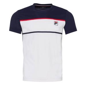 Polo e Maglie Tennis Fila Steve Maglietta Bambino  White/Peacoat Blue FJL211013004