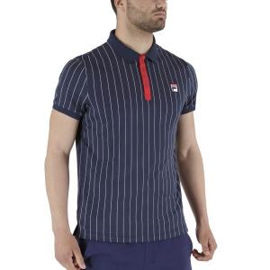 Polo Tennis Uomo Fila Stripes Polo  Peacoat Blue/White FRM131011101