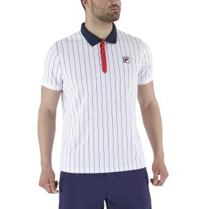Polo Tenis Hombre Fila Stripes Polo  White Stripes FRM131011010