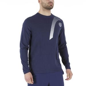 Men's Tennis Shirts and Hoodies Head Club 21 Cliff Shirt  Dark Blue 811451DB
