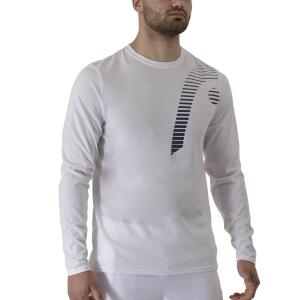 Men's Tennis Shirts and Hoodies Head Club 21 Cliff Shirt  White 811451WH