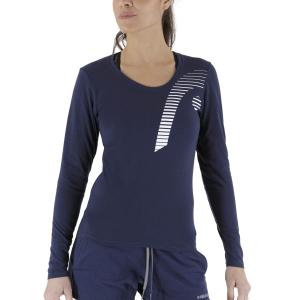 Women's Tennis Shirts and Hoodies Head Club 21 Linda Shirt  Dark Blue 814471DB
