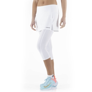 Women's Tennis Pants and Tights Head Club 3/4 Tights Skirt  White 814409WH