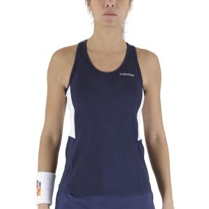 Women`s Tennis Tanks Head Club Tank  Dark Blue 814429DB