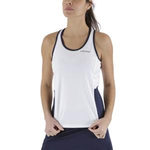 Women`s Tennis Tanks Head Club Tank  White/Dark Blue 814429WHDB