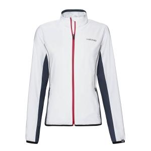 Tennis Jackets Girls Head Club Jacket Girl  White/Dark Blue 816429WHDB
