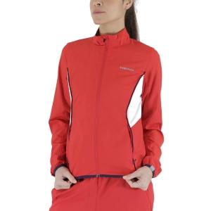 Chaquetas de Tenis Mujer Head Club Chaqueta  Red 814309RD