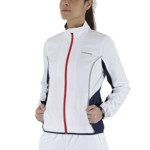 Tennis Women's Jackets Head Club Jacket  White/Dark Blue 814309WHDB