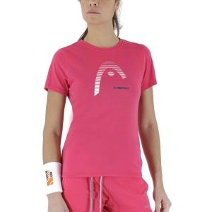 Camisetas y Polos de Tenis Mujer Head Club Lara Camiseta  Magenta 814529MA