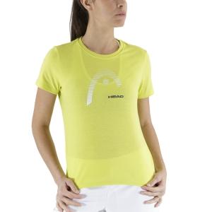 Camisetas y Polos de Tenis Mujer Head Club Lara Camiseta  Yellow 814529YW