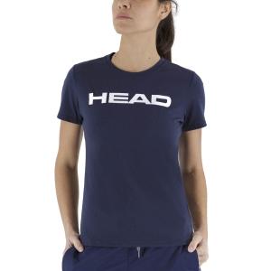 Magliette e Polo Tennis Donna Head Club Lucy Maglietta  Dark Blue/White 814400DBWH