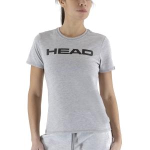Magliette e Polo Tennis Donna Head Club Lucy Maglietta  Grey Melange/Black 814400GMBK