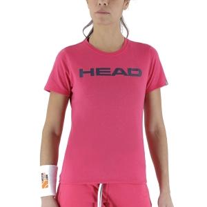 Camisetas y Polos de Tenis Mujer Head Club Lucy Camiseta  Magenta/Dark Blue 814400MADB