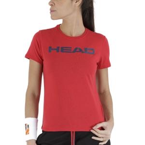 Camisetas y Polos de Tenis Mujer Head Club Lucy Camiseta  Red/Dark Blue 814400RDDB