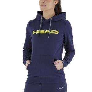Women's Tennis Shirts and Hoodies Head Club Rosie Hoodie  Dark Blue/Yellow 814489DBYW