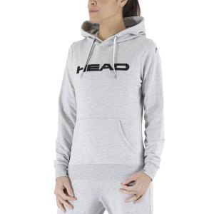 Women's Tennis Shirts and Hoodies Head Club Rosie Hoodie  Grey Melange/Black 814489GMBK