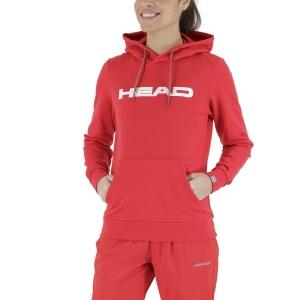 Women's Tennis Shirts and Hoodies Head Club Rosie Hoodie  Red/White 814489RDWH