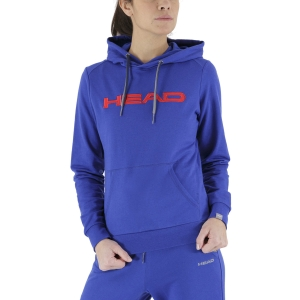 Women's Tennis Shirts and Hoodies Head Club Rosie Hoodie  Royal Blue/Red 814489RORD