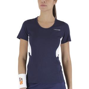 Camisetas y Polos de Tenis Mujer Head Club Tech Camiseta  Dark Blue 814349DB