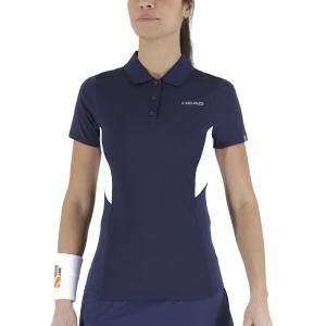 Camisetas y Polos de Tenis Mujer Head Club Tech Polo  Dark Blue 814339DB