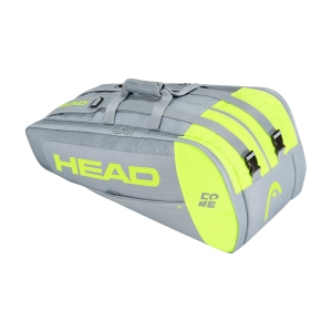 Tennis Bag Head Core x 9 Supercombi Bag  Grey/Neon Yellow 283391 GRNY