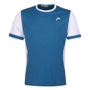 Polo e Maglie Tennis Head Davies Maglietta Bambino  Blue/White 816271BLWH