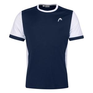 Polo e Maglie Tennis Head Davies Maglietta Bambino  Dark Blue/White 816271DBWH