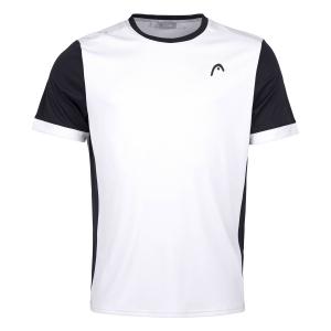 Polo e Maglie Tennis Head Davies Maglietta Bambino  White/Black 816271WHBK