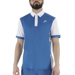 Polo Tenis Hombre Head Davies Polo  Blue/White 811381BLWH