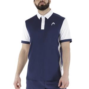 Men's Tennis Polo Head Davies Polo  Dark Blue/White 811381DBWH