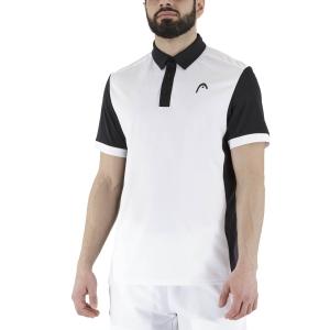 Men's Tennis Polo Head Davies Polo  White/Black 811381WHBK