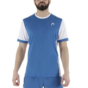 Men's Tennis Shirts Head Davies Vision TShirt  Blue/White 811301BLWH