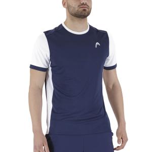 Men's Tennis Shirts Head Davies Vision TShirt  Dark Blue/White 811301DBWH