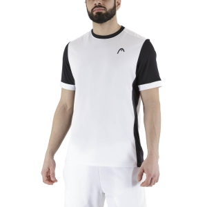 Men's Tennis Shirts Head Davies Vision TShirt  White/Black 811301WHBK