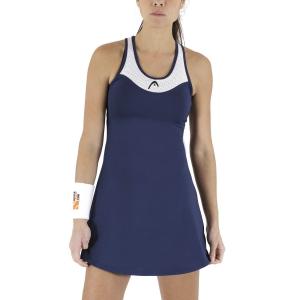 Vestito da Tennis Head Diana Vestito  Dark Blue/White 814591DBWH