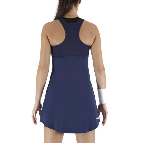 Head Diana Dress - Dark Blue/White