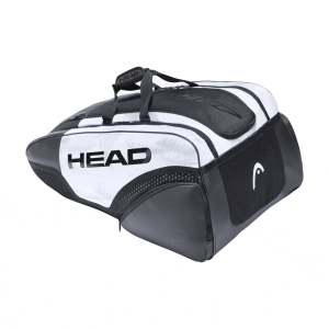 Tennis Bag Head Djokovic x 12 Monstercombi Bag  White/Black 283061 WHBK