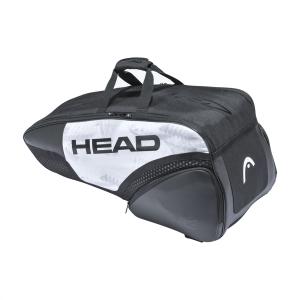 Tennis Bag Head Djokovic x 6 Combi Bag  White/Black 283121 WHBK