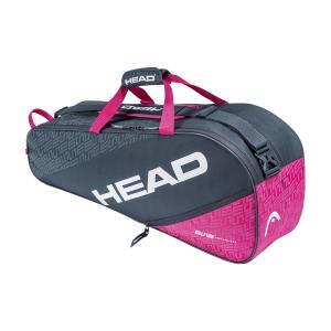 Tennis Bag Head Elite x 6 Combi Bag  Anthracite/Pink 283550 ANPK