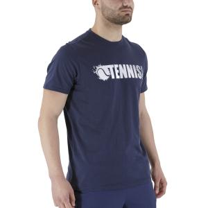 Men's Tennis Shirts Head Font Vision TShirt  Dark Blue 811311DB