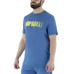 Men's Tennis Shirts Head Padel Vision TShirt  Blue 811501BL