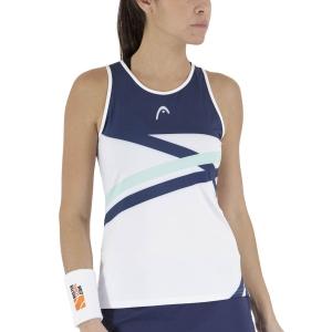 Women`s Tennis Tanks Head Performance Tank  Print Royal/Mint 814491XRMI