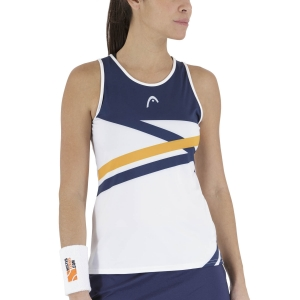 Women`s Tennis Tanks Head Performance Tank  Print Royal/Orange 814491XROR