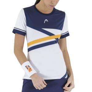 Camisetas y Polos de Tenis Mujer Head Performance Camiseta  Print Royal/Orange 814561XROR