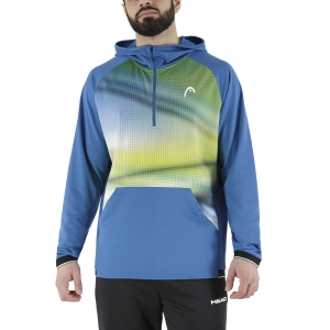 Men's Tennis Shirts and Hoodies Head Power Hoodie  Blue/Print Vision 811491BLXV