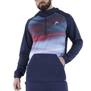 Men's Tennis Shirts and Hoodies Head Power Hoodie  Dark Blue/Print Vision 811491DBXV