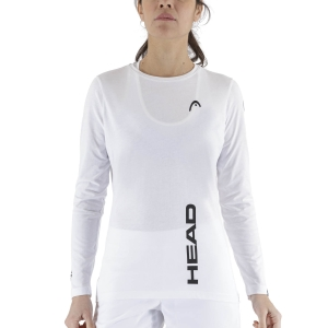 Women's Tennis Shirts and Hoodies Head Club Promo Shirt  White 828360WH